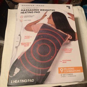 Calming Heat Massaging Weighted Heating Pad by Sha